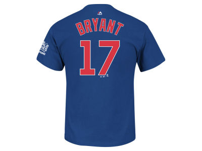 Chicago Cubs Kris Bryant MLB Men's 2016 World Series Champ Patch Player T-Shirt