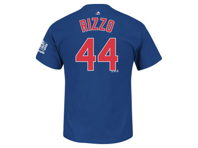 Chicago Cubs Anthony Rizzo MLB Men's 2016 World Series Champ Patch Player T-Shirt