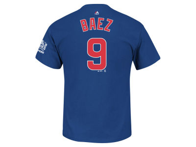 Chicago Cubs Javier Baez MLB Men's 2016 World Series Champ Patch Player T-Shirt