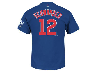 Chicago Cubs Kyle Schwarber MLB Men's 2016 World Series Champ Patch Player T-Shirt