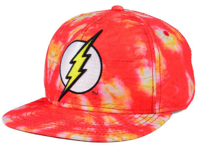DC Comics Flash Tie Dye Snapback Cap