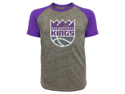 Sacramento Kings Majestic NBA Men's Triblend Raglan Primary T-Shirt
