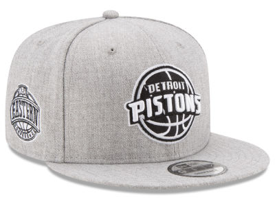 Detroit Pistons New Era The Heather Boy 9FIFTY Snapback Cap