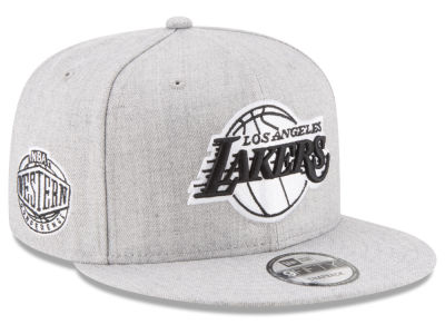 Los Angeles Lakers New Era The Heather Boy 9FIFTY Snapback Cap