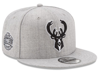 Milwaukee Bucks New Era The Heather Boy 9FIFTY Snapback Cap