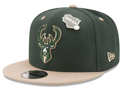 Milwaukee Bucks New Era NBA Pintastic 9FIFTY Snapback Cap