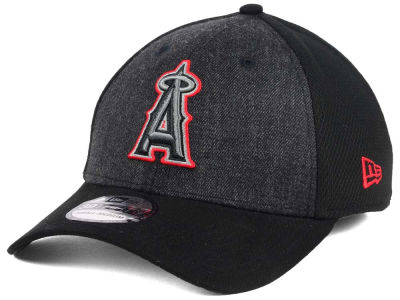 Los Angeles Angels New Era MLB Black Heathered 39THIRTY Cap