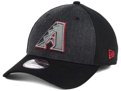 Arizona Diamondbacks New Era MLB Black Heathered 39THIRTY Cap