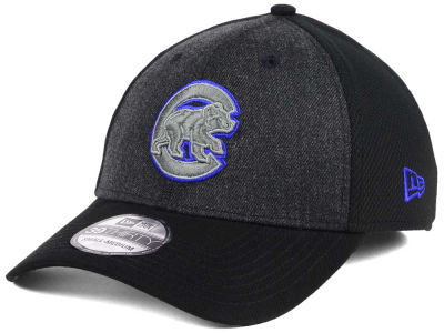 Chicago Cubs New Era MLB Black Heathered 39THIRTY Cap