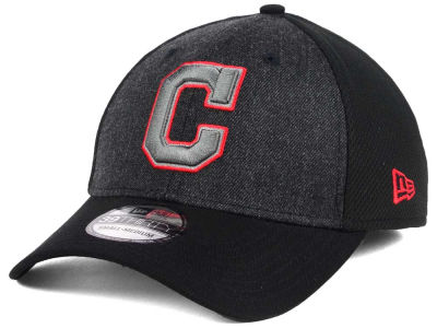 Cleveland Indians New Era MLB Black Heathered 39THIRTY Cap