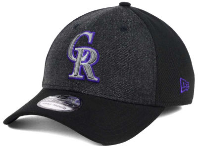 Colorado Rockies New Era MLB Black Heathered 39THIRTY Cap