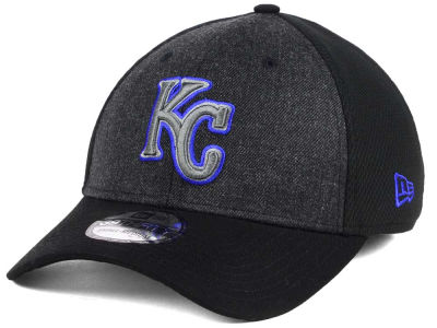 Kansas City Royals New Era MLB Black Heathered 39THIRTY Cap