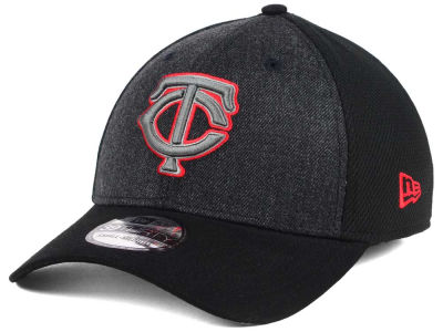 Minnesota Twins New Era MLB Black Heathered 39THIRTY Cap