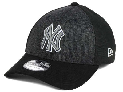 New York Yankees New Era MLB Black Heathered 39THIRTY Cap