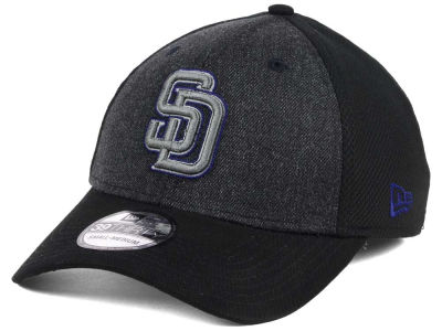 San Diego Padres New Era MLB Black Heathered 39THIRTY Cap
