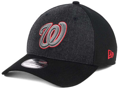 Washington Nationals New Era MLB Black Heathered 39THIRTY Cap