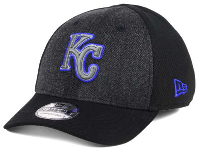 Kansas City Royals New Era MLB Jr Black Heathered 39THIRTY Cap
