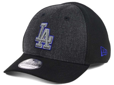 Los Angeles Dodgers New Era MLB Jr Black Heathered 39THIRTY Cap