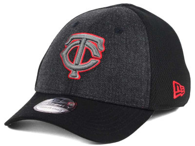 Minnesota Twins New Era MLB Jr Black Heathered 39THIRTY Cap
