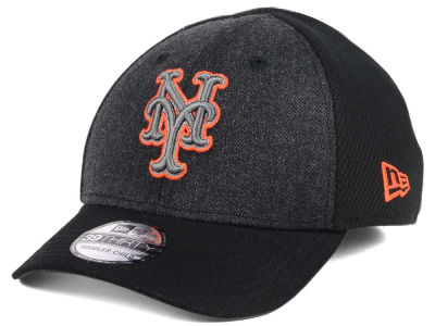 New York Mets New Era MLB Jr Black Heathered 39THIRTY Cap