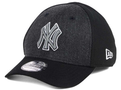 New York Yankees New Era MLB Jr Black Heathered 39THIRTY Cap