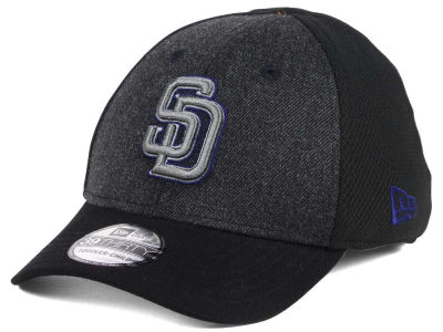 San Diego Padres New Era MLB Jr Black Heathered 39THIRTY Cap