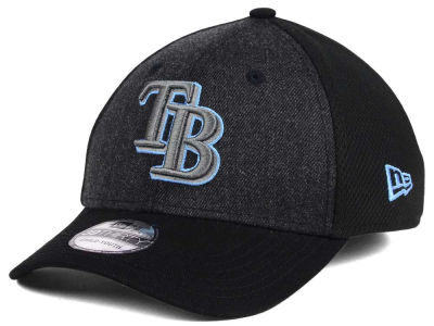Tampa Bay Rays New Era MLB Jr Black Heathered 39THIRTY Cap