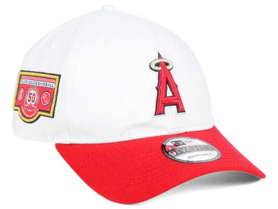 Los Angeles Angels New Era MLB Coop Banner Patch 9TWENTY Strapback Cap