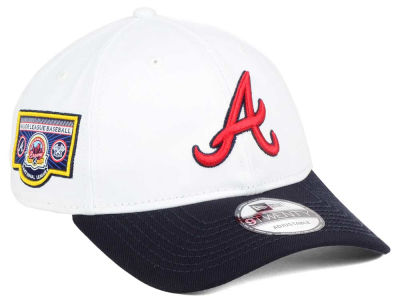 Atlanta Braves New Era MLB Coop Banner Patch 9TWENTY Strapback Cap
