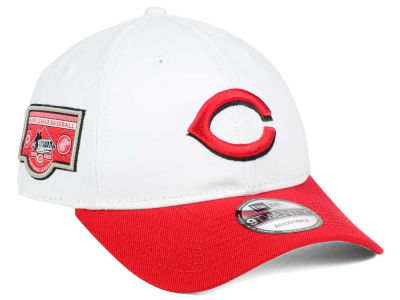 Cincinnati Reds New Era MLB Coop Banner Patch 9TWENTY Strapback Cap