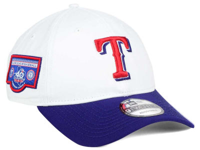 Texas Rangers New Era MLB Coop Banner Patch 9TWENTY Strapback Cap