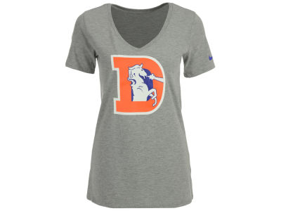 Denver Broncos Nike NFL Women's Historic Mid V-Neck T-Shirt