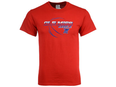 Ole Miss Rebels J America NCAA Youth Straight Vertical Bball T-Shirt