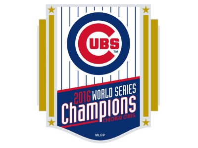 Chicago Cubs 2016 World Series Champs Banner Pin
