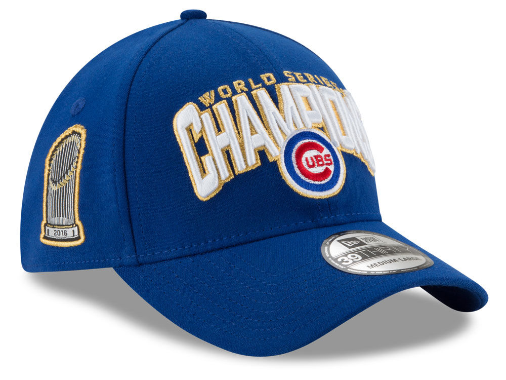Chicago Cubs New Era 2016 MLB World Series Champ LR Team Color 39THIRTY Cap   0cede7d58