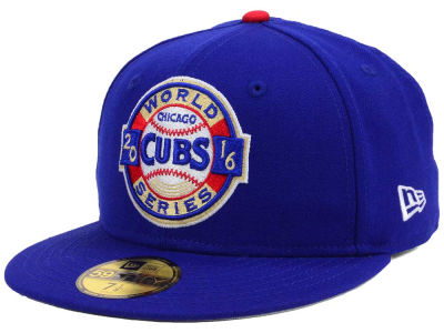 Chicago Cubs New Era MLB 2016 World Series Patch 59FIFTY Cap