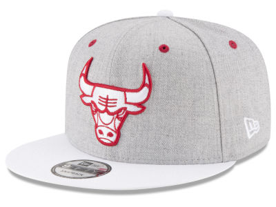 Chicago Bulls New Era NBA White Vize 9FIFTY Snapback Cap