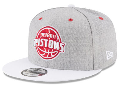 Detroit Pistons New Era NBA White Vize 9FIFTY Snapback Cap