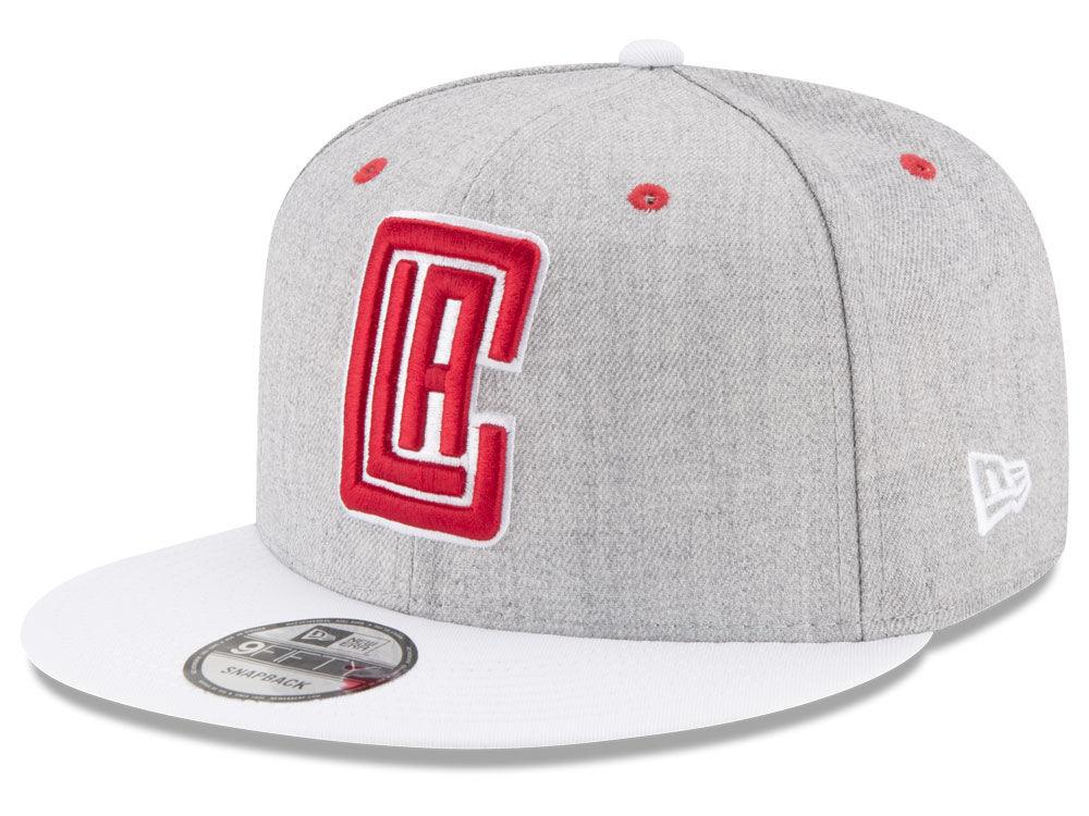the latest 1a495 3de45 Los Angeles Clippers New Era NBA White Vize 9FIFTY Snapback Cap   lids.com