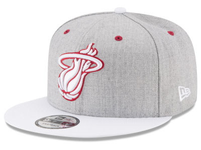 Miami Heat New Era NBA White Vize 9FIFTY Snapback Cap