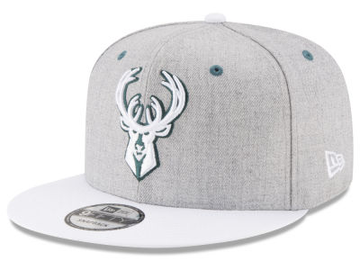Milwaukee Bucks New Era NBA White Vize 9FIFTY Snapback Cap