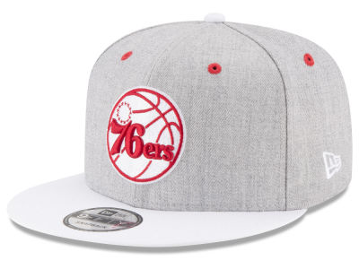 Philadelphia 76ers New Era NBA White Vize 9FIFTY Snapback Cap