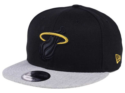 Miami Heat New Era NBA Gold Tip Off 9FIFTY Snapback Cap