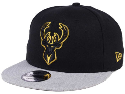 Milwaukee Bucks New Era NBA Gold Tip Off 9FIFTY Snapback Cap