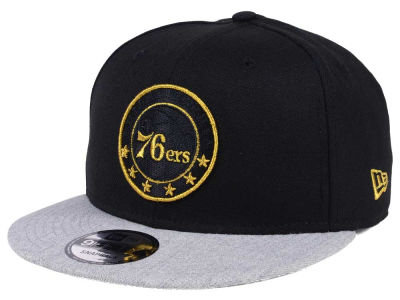 Philadelphia 76ers New Era NBA Gold Tip Off 9FIFTY Snapback Cap