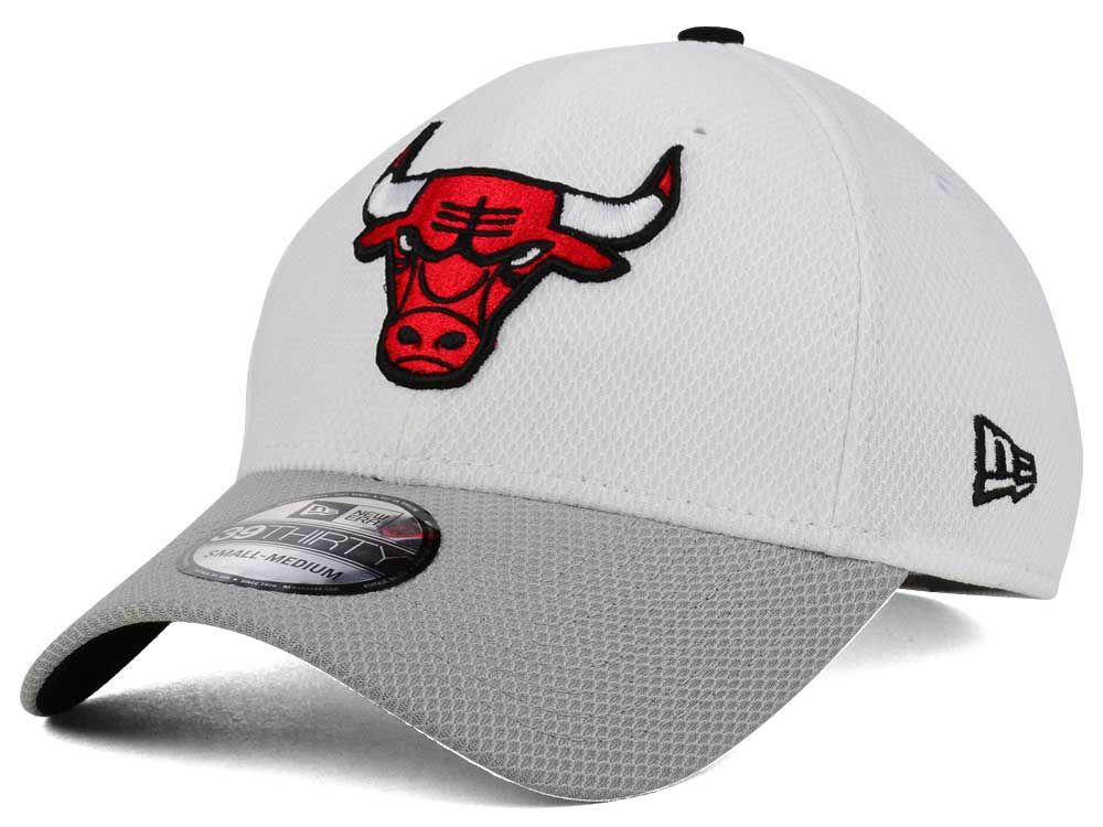 Chicago Bulls New Era NBA White Diamond 9TWENTY Cap  68b14d7848b