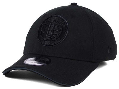 Brooklyn Nets New Era NBA Black Pop 39THIRTY Cap