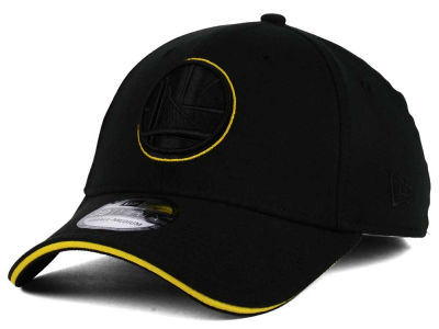 Golden State Warriors New Era NBA Black Pop 39THIRTY Cap