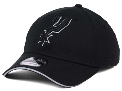 San Antonio Spurs New Era NBA Black Pop 39THIRTY Cap