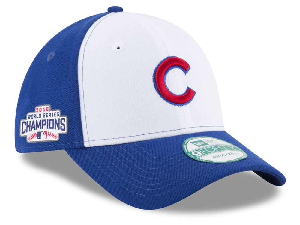 Chicago Cubs New Era MLB 2016 World Series Champ Patch 9FORTY Cap ... 52c752957